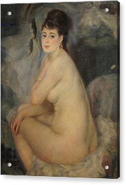 The Beautiful Anna Acrylic Print by Pierre Auguste Renoir