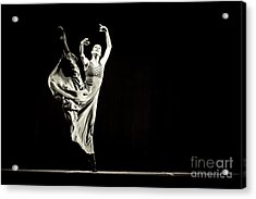 Acrylic Print featuring the photograph The Beautiful Ballerina Dancing In Long Dress by Dimitar Hristov