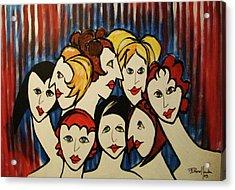 The Beautiful Ladies Acrylic Print
