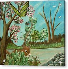The Beautiful Nature Acrylic Print by Iris  Mora