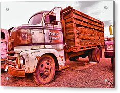 Acrylic Print featuring the photograph The Beauty Of An Old Truck by Jeff Swan
