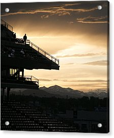 The Beauty Of Baseball In Colorado Acrylic Print by Marilyn Hunt