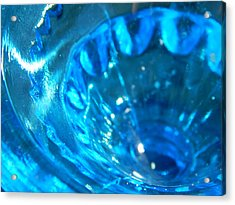 The Beauty Of Blue Glass Acrylic Print