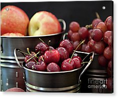 The Beauty Of Fresh Fruit Acrylic Print by Sherry Hallemeier