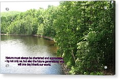 The Beauty Of Nature Acrylic Print by John Lavernoich