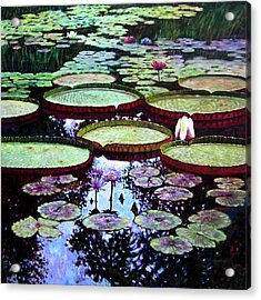 The Beauty Of Stillness Acrylic Print by John Lautermilch