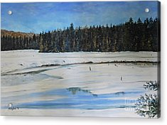 The Beaver Pond In Winter Acrylic Print