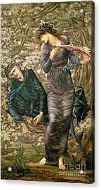 The Beguiling Of Merlin Acrylic Print by Sir Edward Burne-Jones