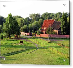 The Belgian Countryside Acrylic Print by David L Griffin