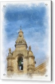 The Bell Tower By John Springfield Acrylic Print