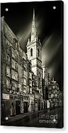 The Bell Tower Of A Church In Valletta Acrylic Print by Stephan Grixti