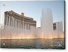 The Bellagio Hotel And Casino Acrylic Print by Andy Smy