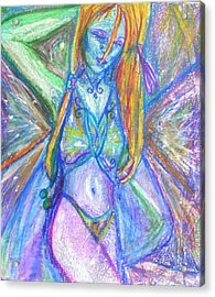 The Belly Dancer Acrylic Print by Sarah Crumpler