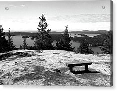 Acrylic Print featuring the photograph The Bench Atop Turtleback by Lorraine Devon Wilke