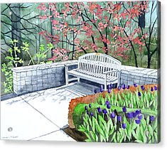 The Bench Awaits - Mill Creek Park Acrylic Print