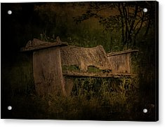 Acrylic Print featuring the photograph The Bench by Ryan Photography