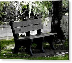 The Bench Acrylic Print by Tara Lynn