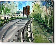 The Bend Matted Glassed Framed Acrylic Print by Charlie Spear