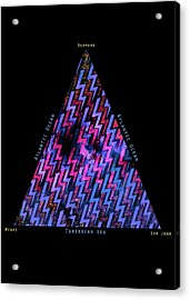 The Bermuda Triangle Acrylic Print