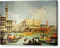 The Betrothal Of The Venetian Doge To The Adriatic Sea Acrylic Print by Canaletto