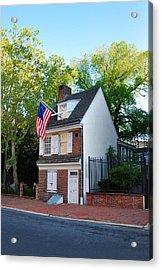 The Betsy Ross House Philadelphia Acrylic Print by Bill Cannon