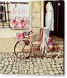 The Bicycle As Display  Acrylic Print