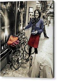 The Bicycle Girl Acrylic Print