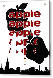 The Big Apple Rotten Apple Acrylic Print by Turtle Caps