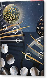 Acrylic Print featuring the painting The Big Bang by Michal Mitak Mahgerefteh