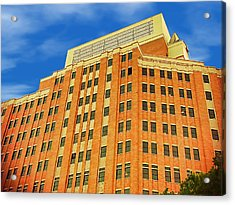 The Big Box Theory Acrylic Print by Wendy J St Christopher