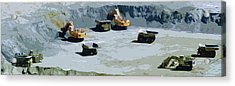 The Big Dig Acrylic Print by Phill Petrovic