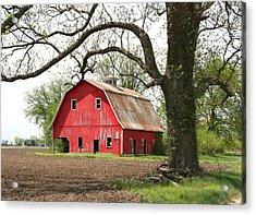 The Big Red Barn Acrylic Print