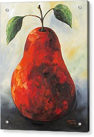 The Big Red Pear Acrylic Print by Torrie Smiley