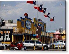 The Big Texan In Amarillo Acrylic Print by Susanne Van Hulst