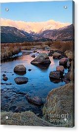 The Big Thompson River Flows Through Rocky Mountain National Par Acrylic Print by Ronda Kimbrow