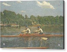 The Biglin Brothers Racing Acrylic Print by Thomas Eakins
