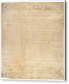 The Bill Of Rights. The First Ten Acrylic Print