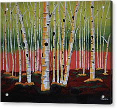 The Birch Forest Acrylic Print by Kathleen Sartoris