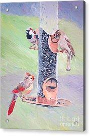 The Bird Feeder Acrylic Print by Stella Sherman