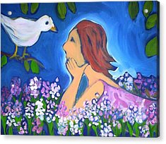 Acrylic Print featuring the painting The Bird by Winsome Gunning