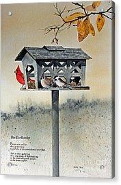 The Birdfeeder Acrylic Print by Monte Toon