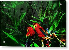 The Birds In Paradise  Acrylic Print by Paul Sutcliffe
