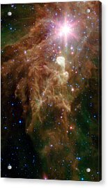 The Birth Of A Star In Outer Space Acrylic Print by American School
