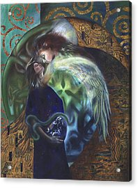 Acrylic Print featuring the painting The Birth Of The World by Ragen Mendenhall