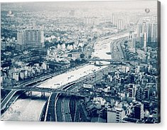 Acrylic Print featuring the photograph The Bisection Of Saigon by Joseph Westrupp