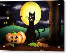 The Black Cat Acrylic Print