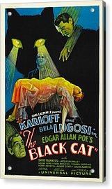 The Black Cat, Boris Karloff, Harry Acrylic Print by Everett