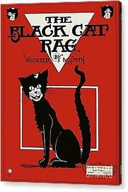 The Black Cat Rag 1905 Sheet Music Art Acrylic Print