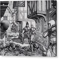 The Black Death Acrylic Print by Pat Nicolle