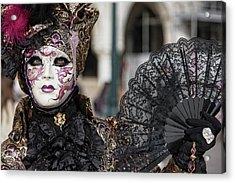 The Black Fan Acrylic Print